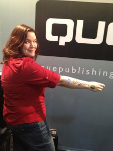 Becky signed Michelle Wolverton aka Chel Pixie at BlogWorld Expo (She didn't bring her paper copy.)