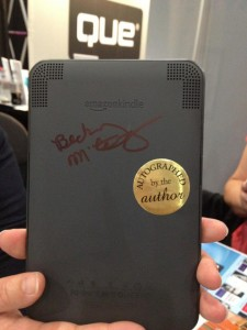 Becky signed Rob Zazueta's Kindle for Small Town Rules