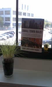 Small Town Rules in Pam O'Hara's window in Rhode Island