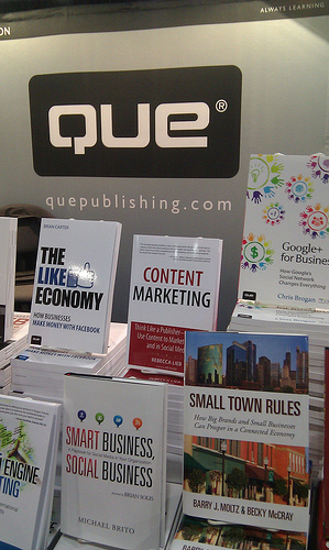 Small Town Rules on the Que Publishing display at BlogWorld Expo
